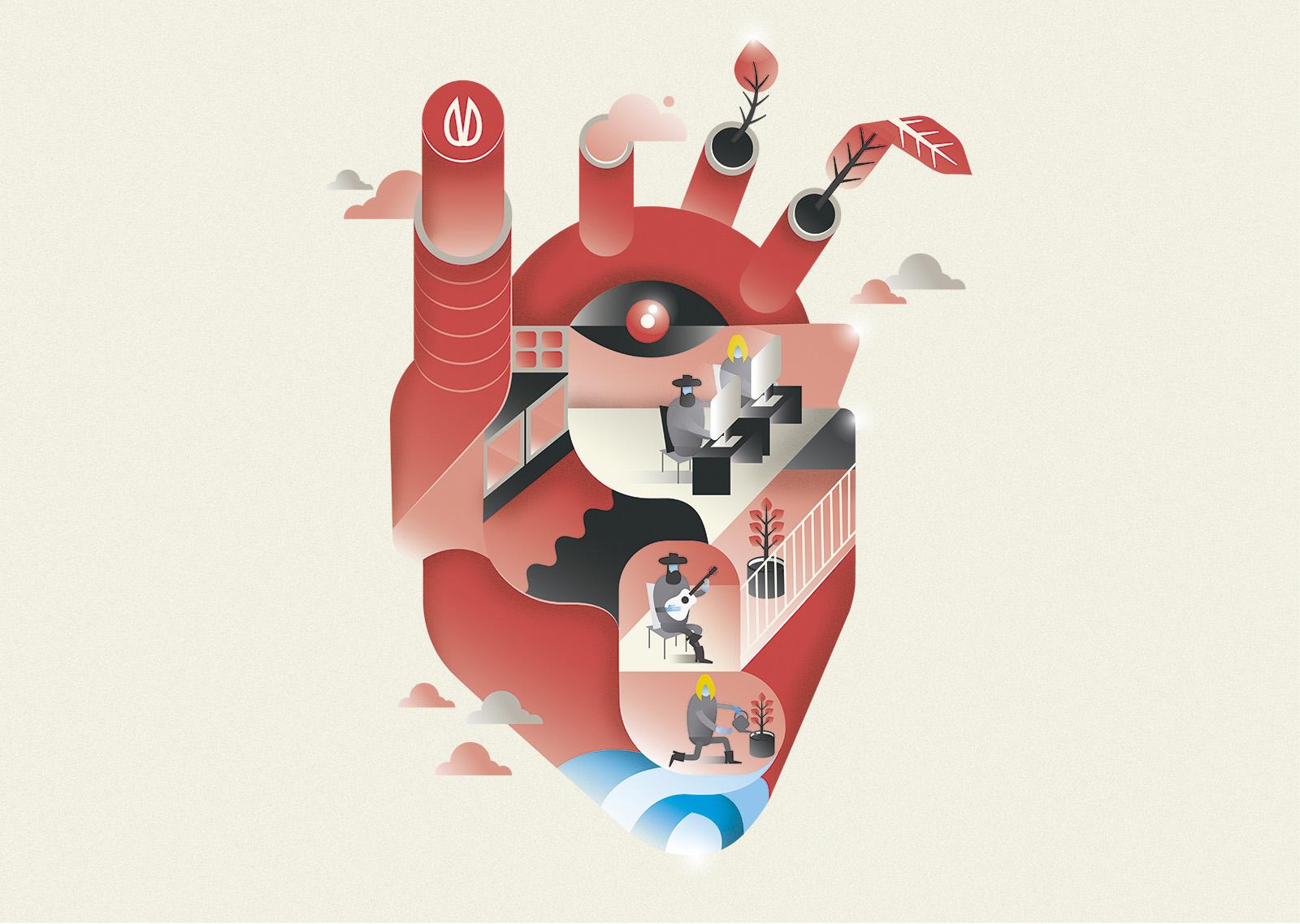Diseño gráfico de un poster para branding