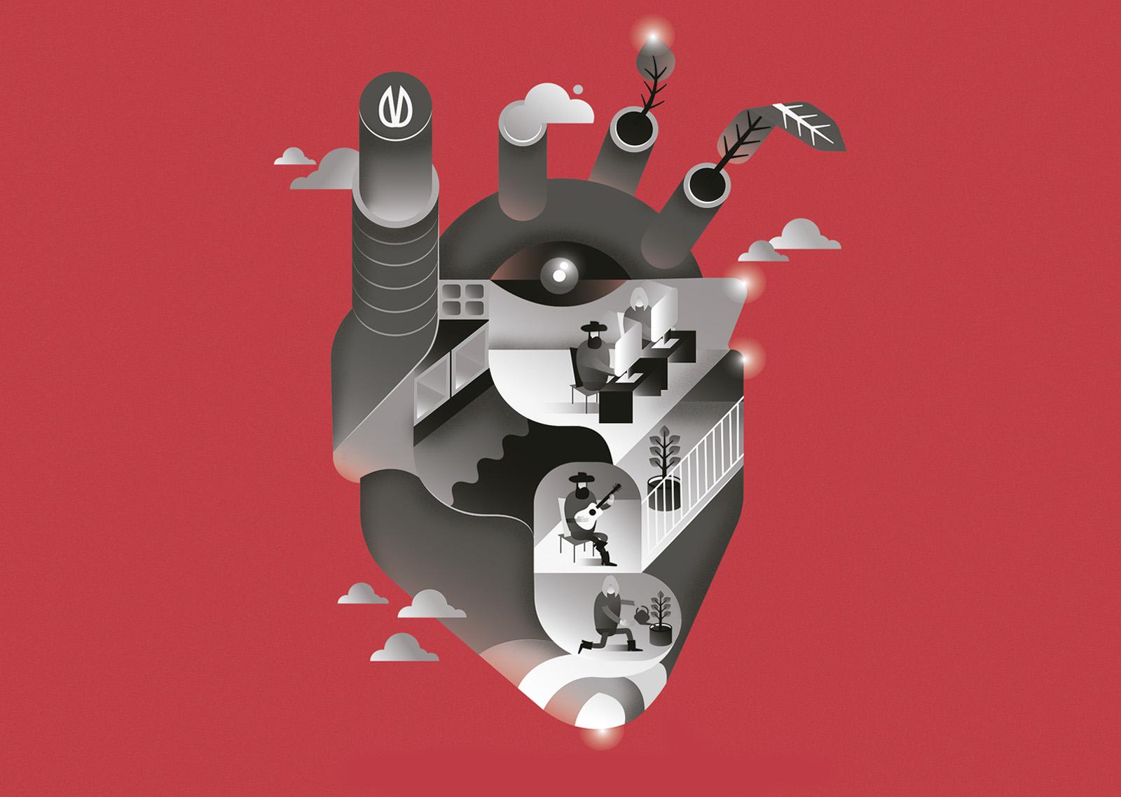 Diseño gráfico de poster para branding