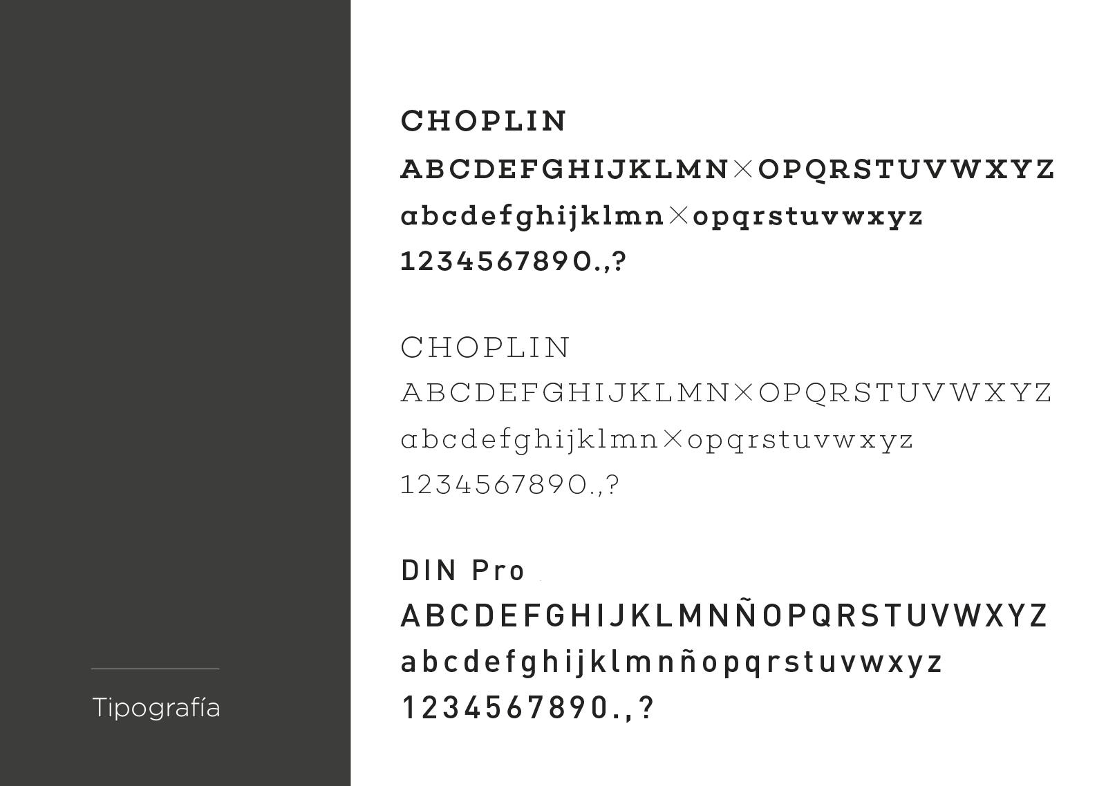 tipografia para etiquetas de aceite de oliva