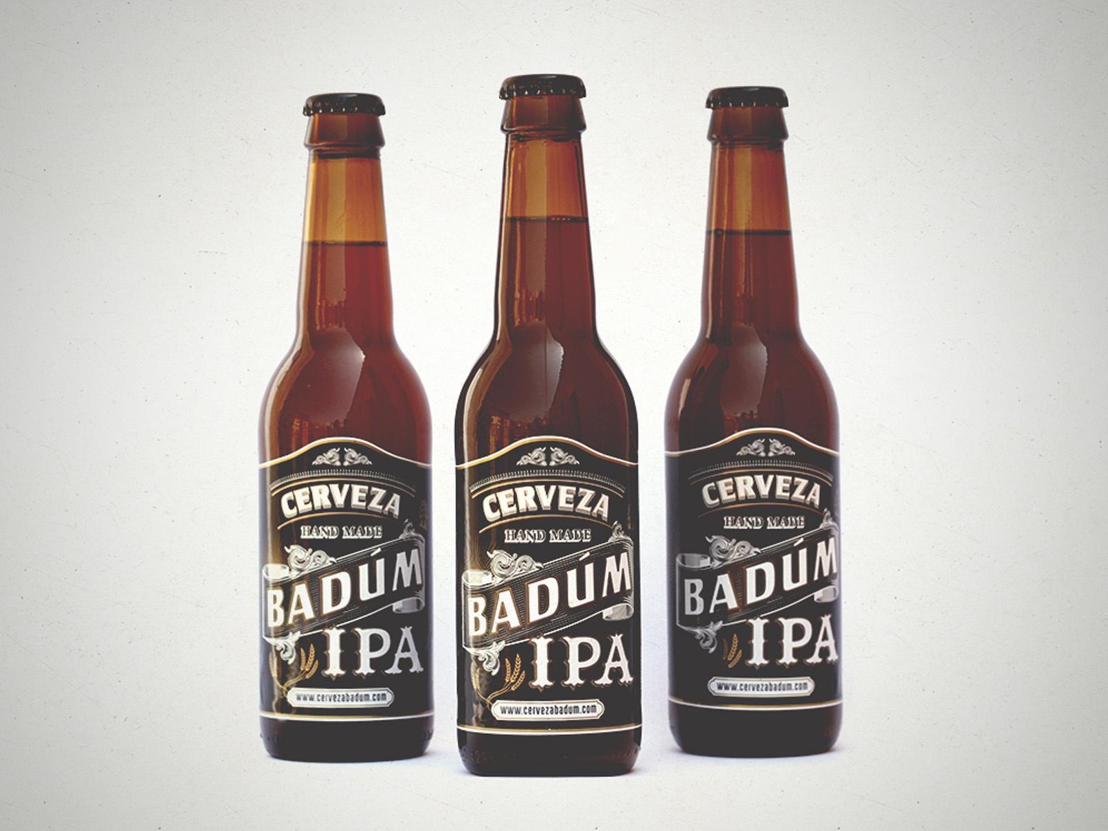tres cervezas Badum IPA