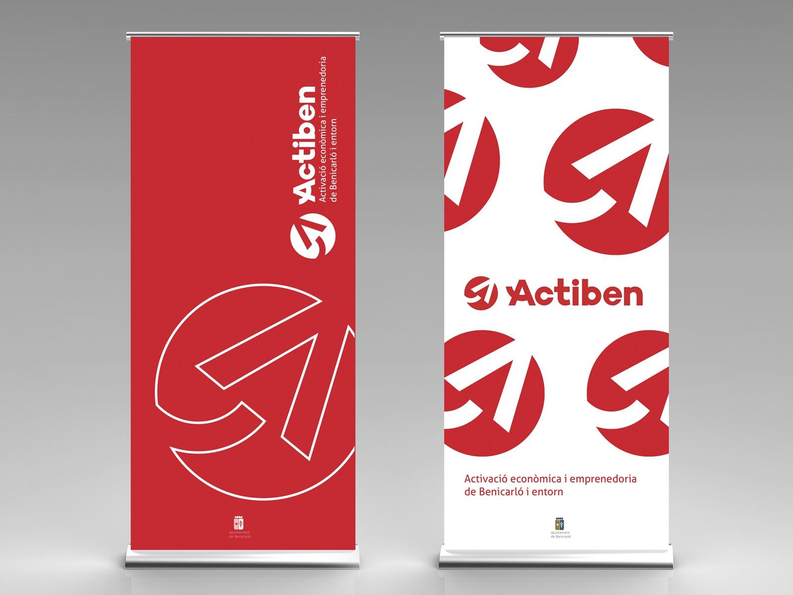 Actiben Logotipo & Identidad Corporativa, Diseño de Roll up