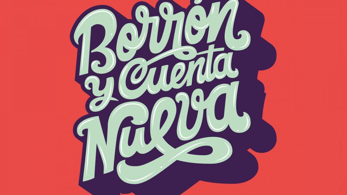 Lettering design, Diseño de poster con lettering hecho a mano, letras vectorizadas, borrón y cuenta nueva, cartel ilustrado, poster design