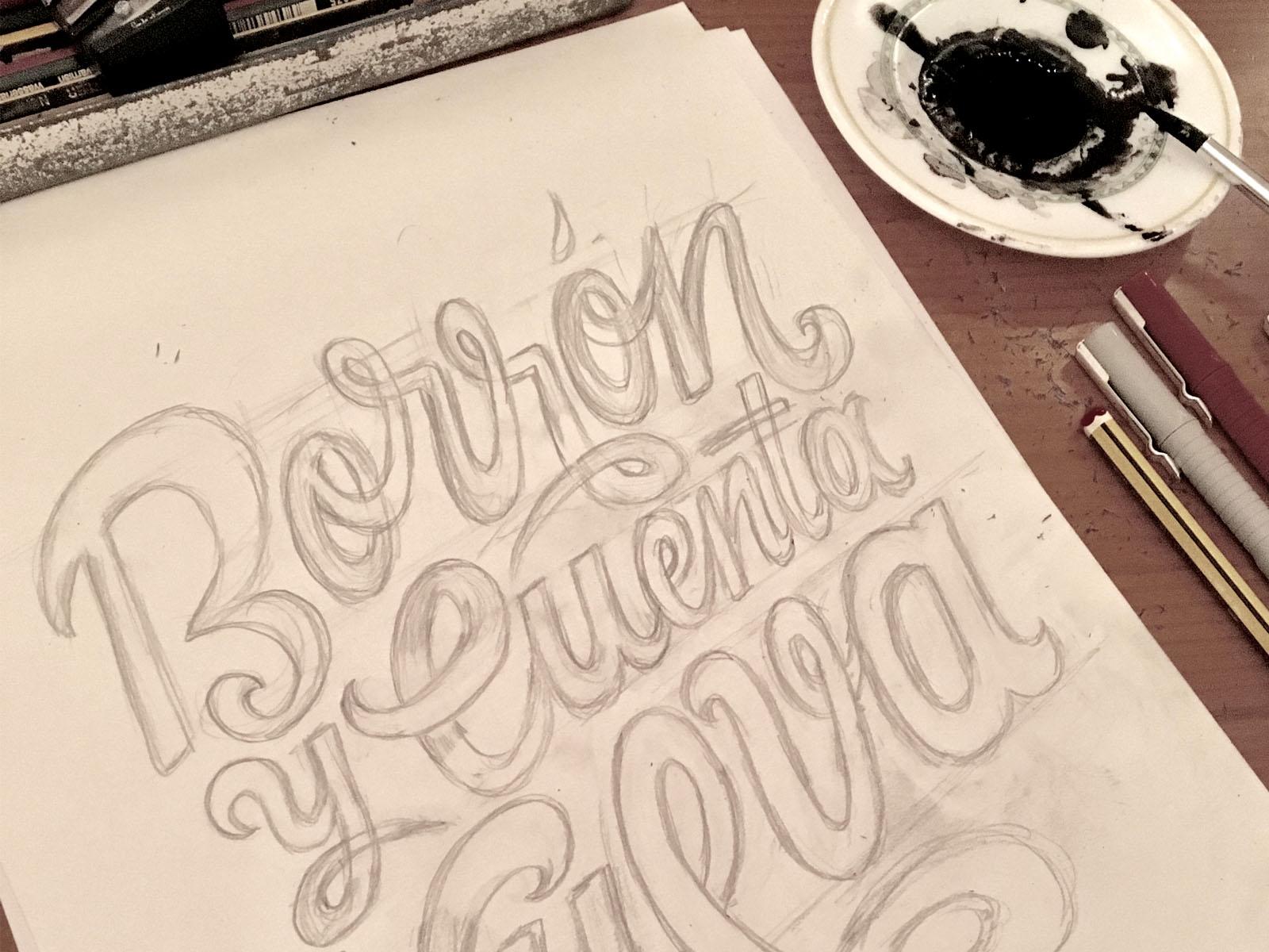 Lettering design, Diseño de poster con lettering hecho a mano, letras, tipografía, borrón y cuenta nueva, cartel ilustrado, poster design
