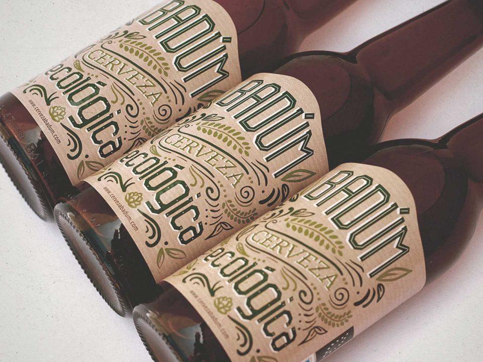 Etiquetas cerveza Badum Eco, etiqueta cervezas, peñiscola