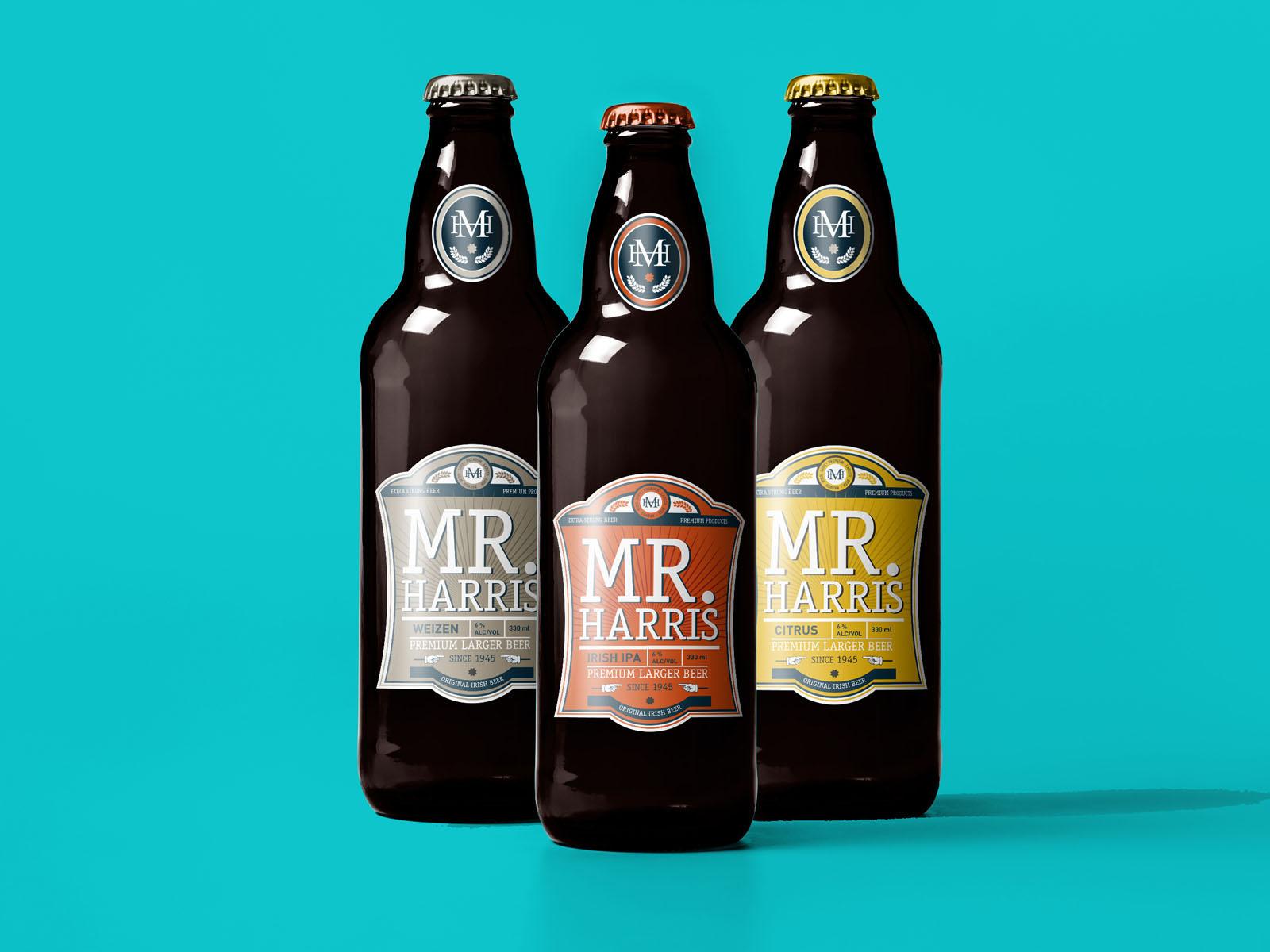 diseño de packaging para cerveza, diseño de etiquetas de tres calidades, botellines de cerveza, beer label design, packaging design