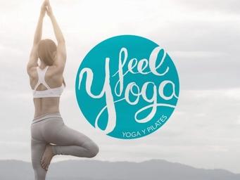 diseño de logo para centro de yoga, feel yoga, branding