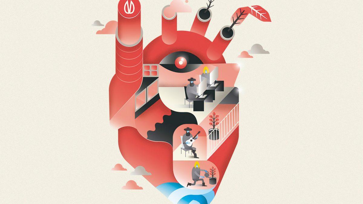 Design by heart, ilustracion corazon casa