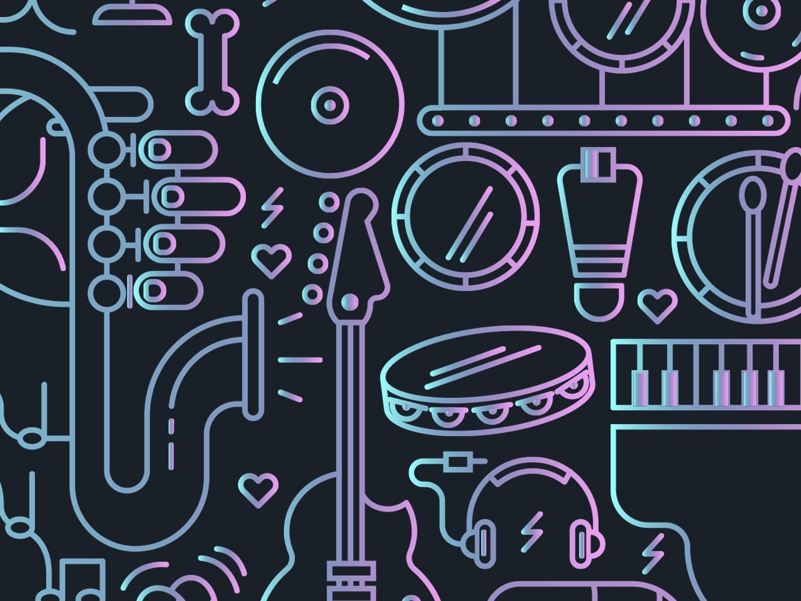 vector, instrumentos musicales, instrumentos musicales vector, cerebro