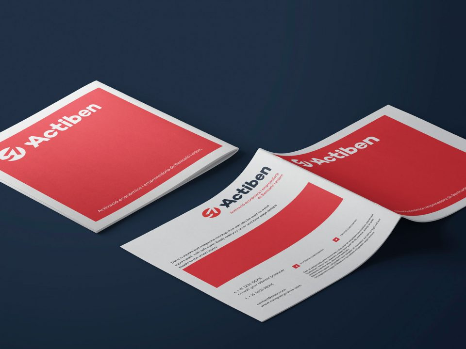 Actiben Logotipo & Identidad Corporativa, diseño de folleto, diseño editorial