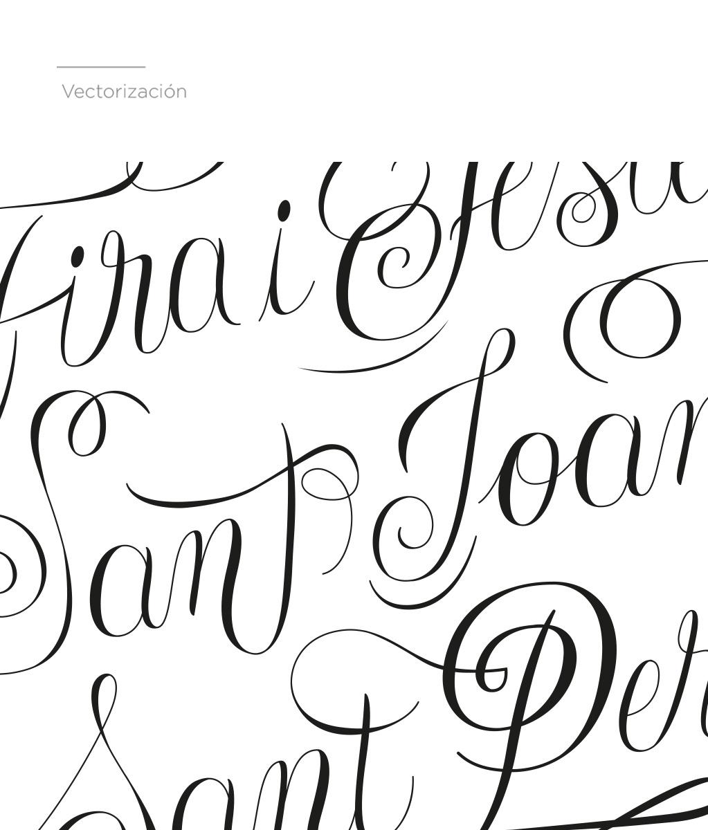 Lettering, letras vectorizadas, caligrafía