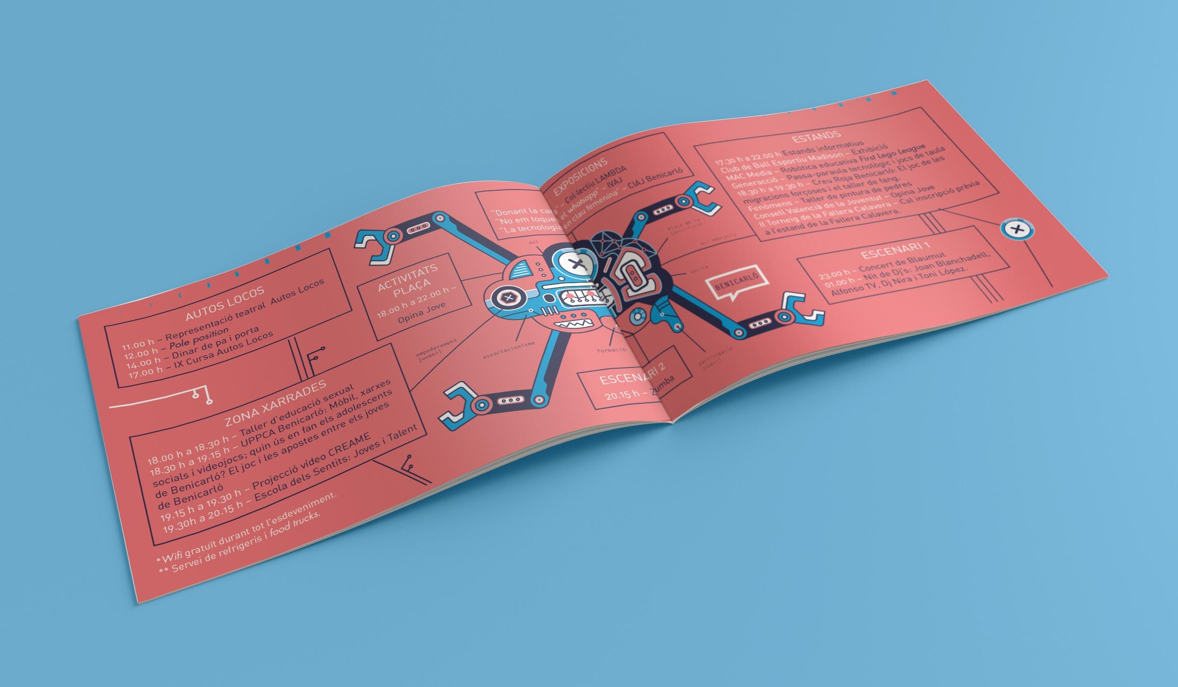 folleto corporativo, soporte de comunicación gráfica, díptico, folleto creativo