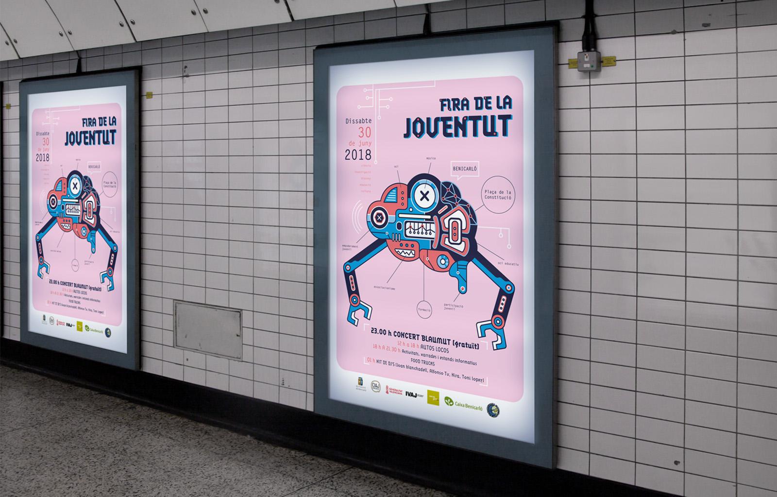 poster, mupi, cartel en el metro