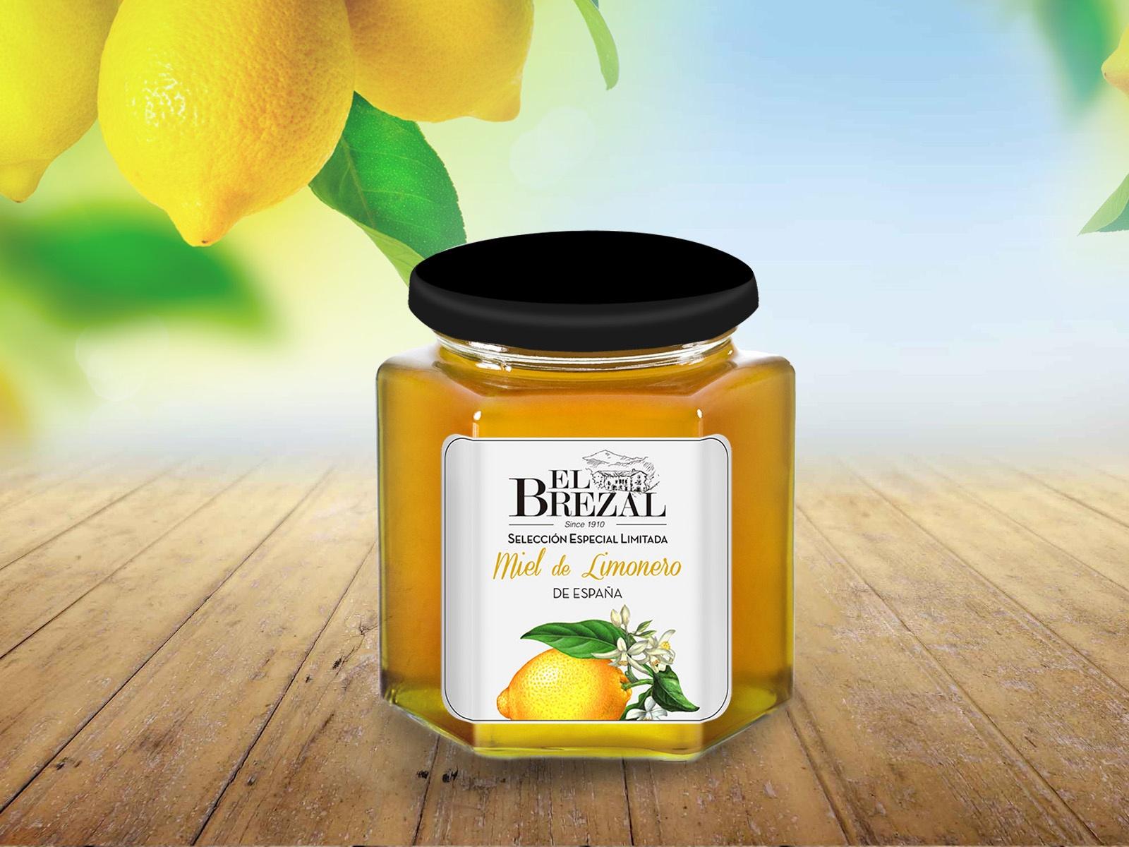 tarro de miel de limonero