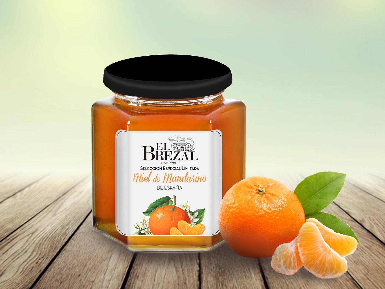 tarro de miel de mandarino