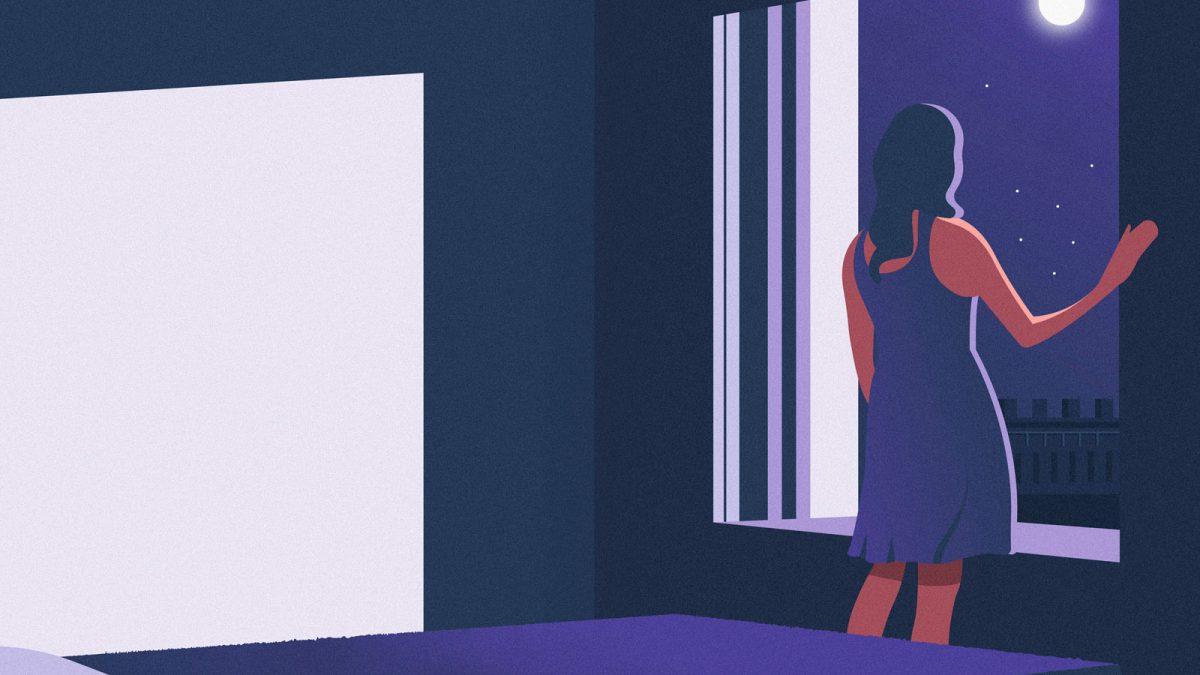 ilutracion mujer ventana