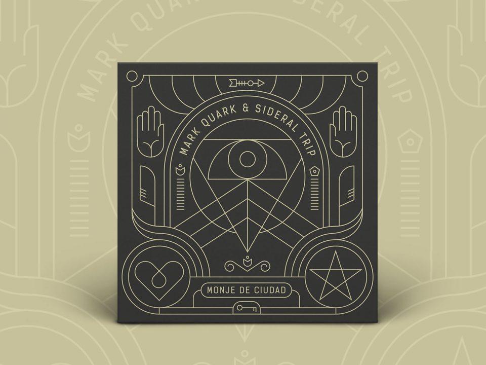 diseño de portada cd sideral trip rap