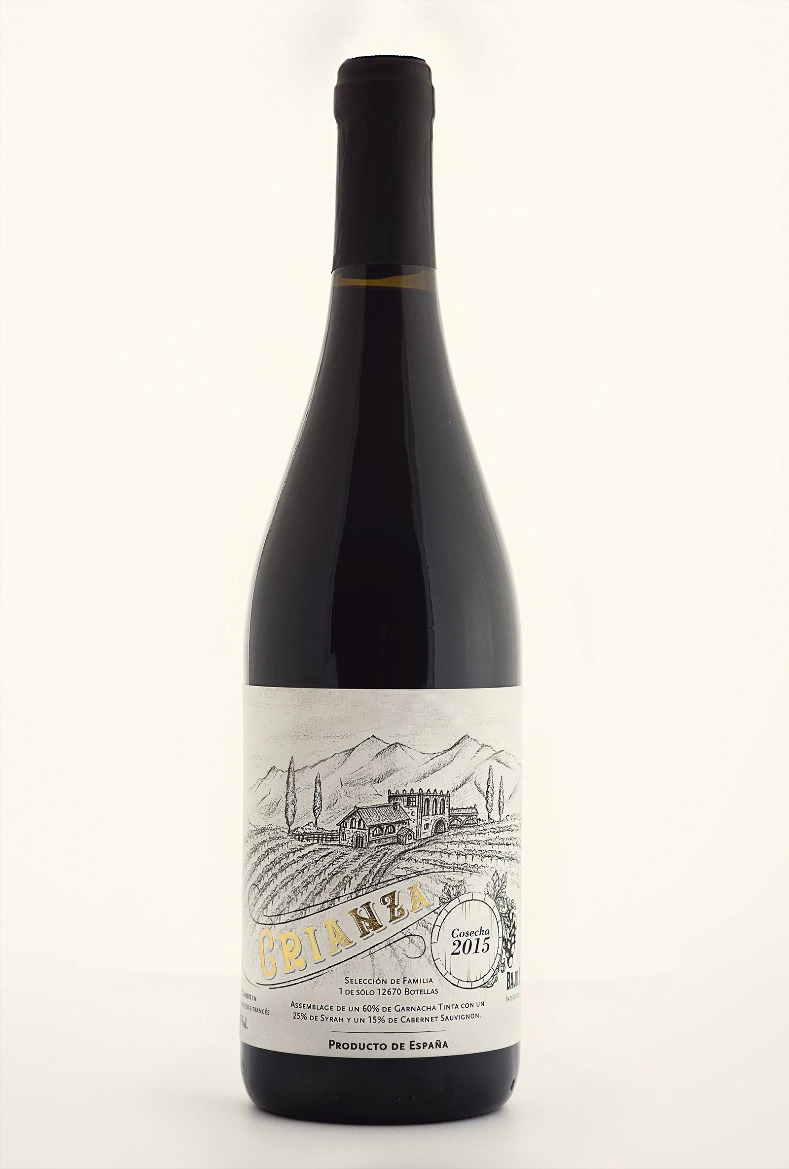Vino Crianza, Diseño de etiqueta de Vino, Packaging para vino, etiqueta artesanal, etiqueta dibujada a mano