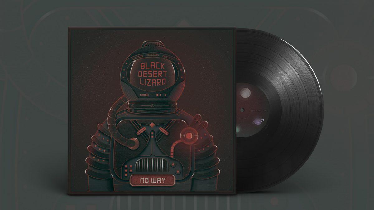 Black Desert Lizard, cd design, diseño de vinilo, música, ilustración, astronauta, galaxia, espacio, grupo de música, print design, diseño de cd