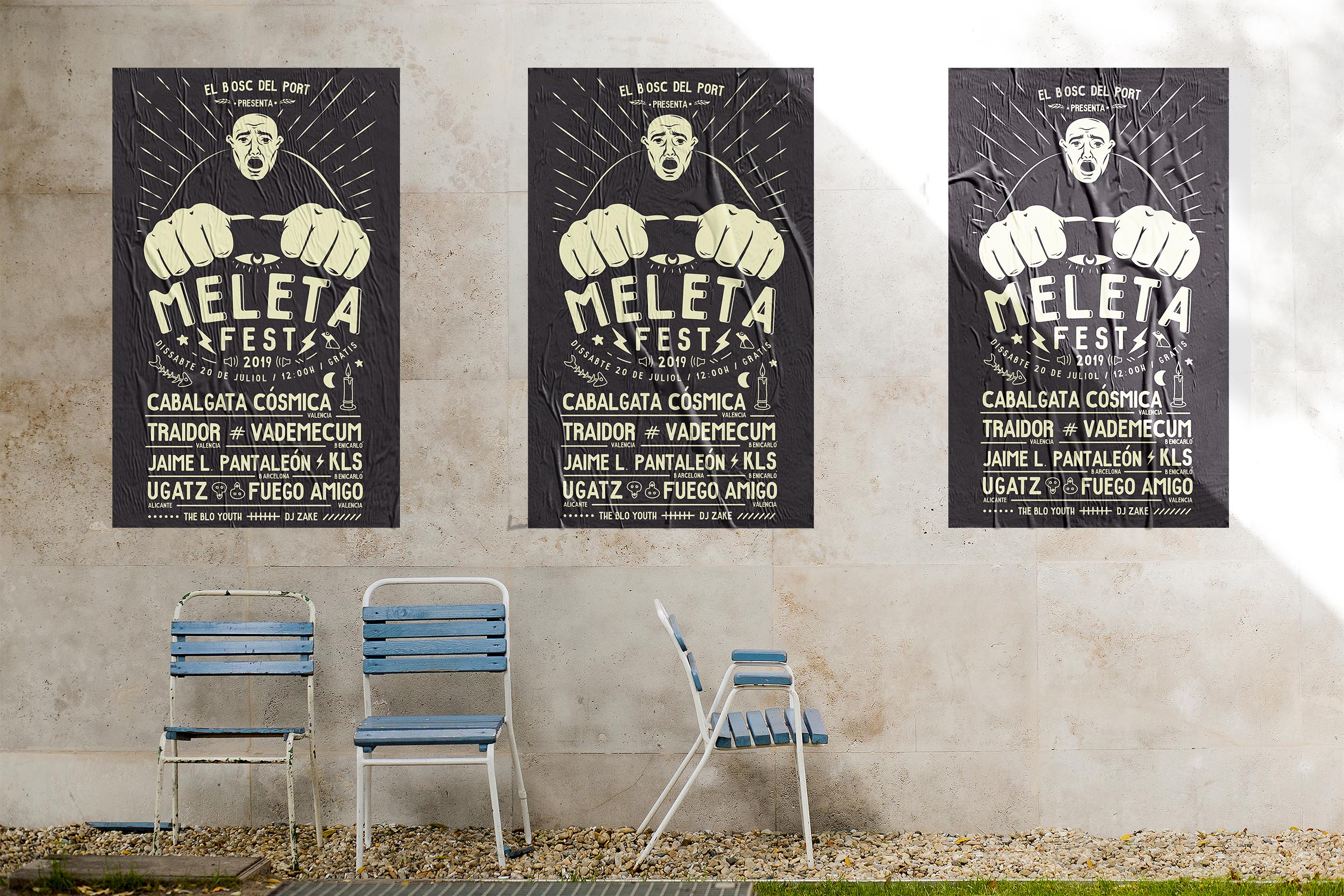 Meleta Fest 2019, cartel, poster, diseño gráfico, graphic design