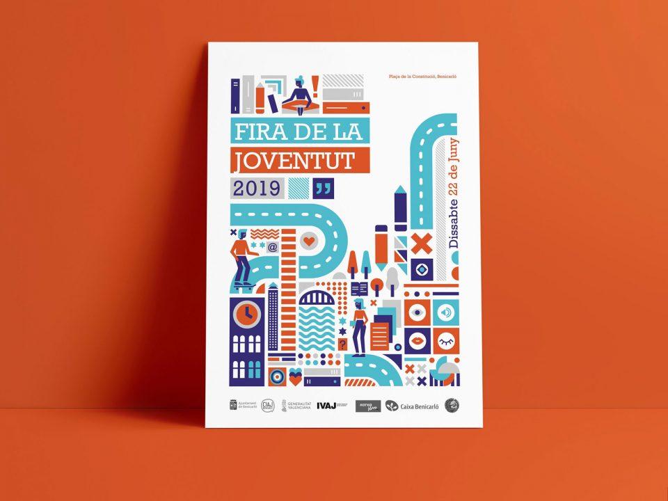 Diseño de cartel para la Fira de la Joventut Benicarló