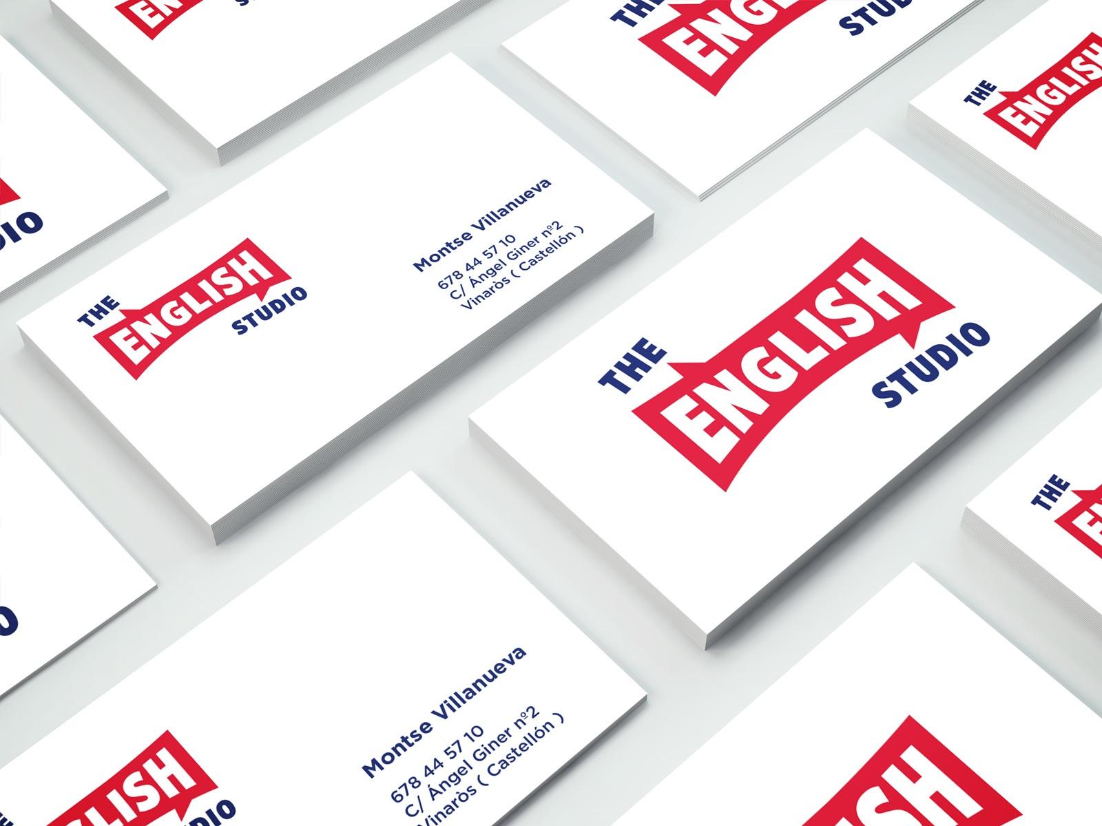 The English Studio, tarjetas corporativas, ilustración mural, diseño de ilustracones corporativas, Identidad Corporativa, logo, Branding, imagen visual, escuela de idiomas