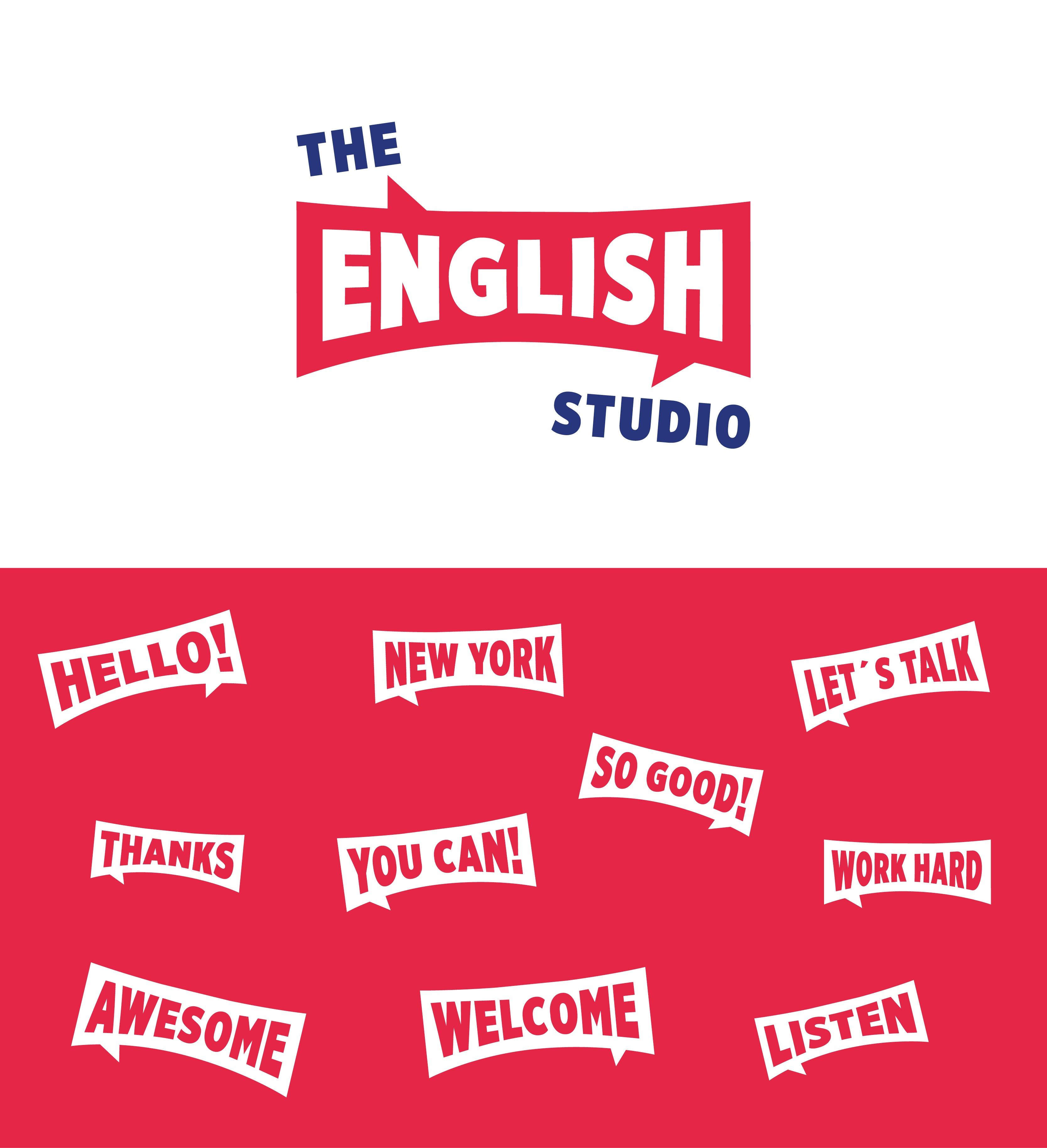 The English Studio, Identidad corporativa, ilustración mural, diseño de ilustracones corporativas, Identidad Corporativa, logo, Branding, imagen visual, escuela de idiomas