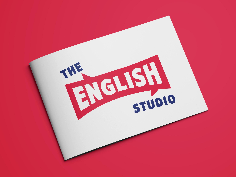 The English Studio, flyer, díptico, ilustración mural, diseño de ilustracones corporativas, Identidad Corporativa, logo, Branding, imagen visual, escuela de idiomas