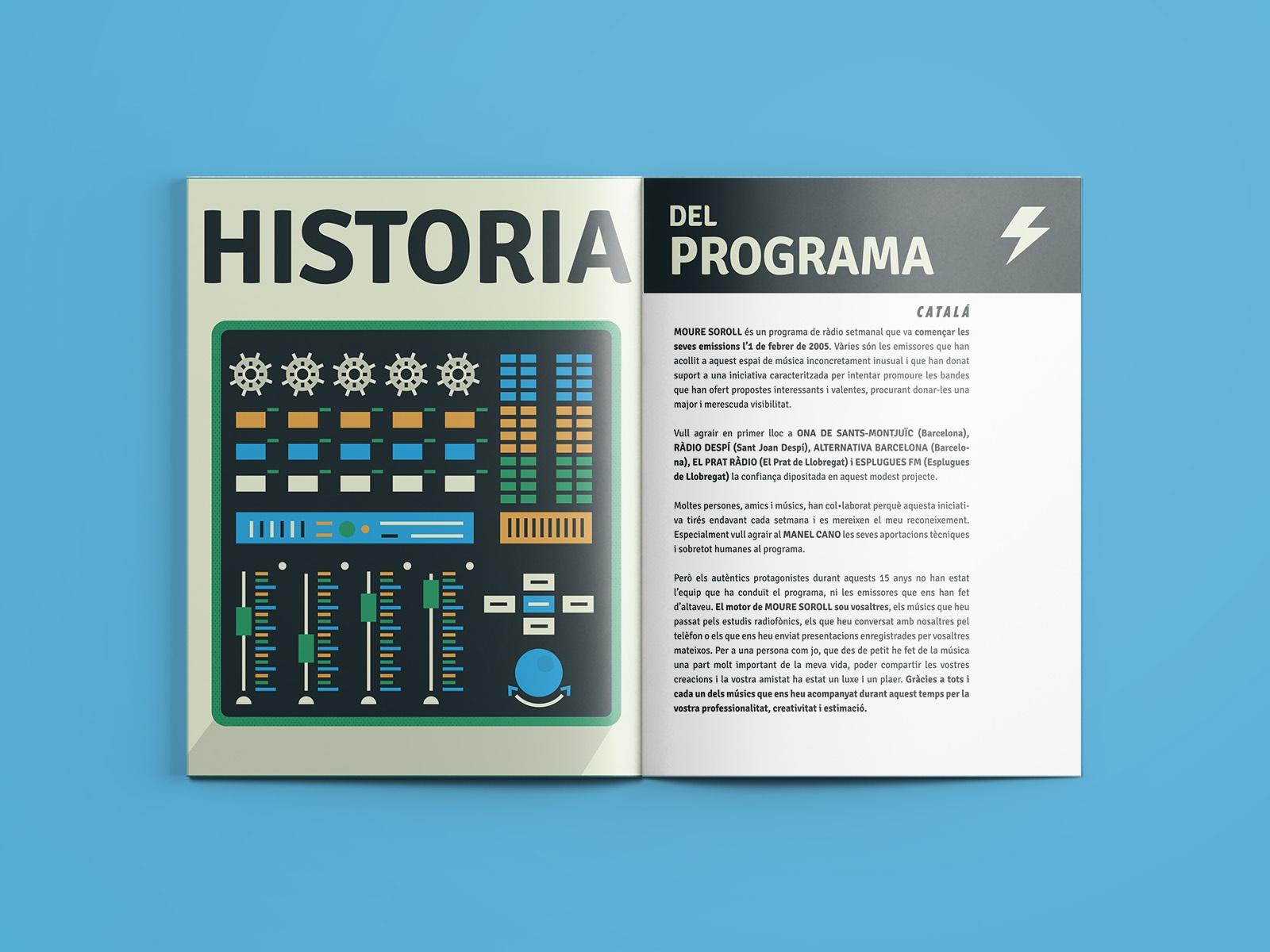 Moure Soroll, El Prat de Llobregat, lettering, diseño editorial, maquetación, radio, emisora, revista