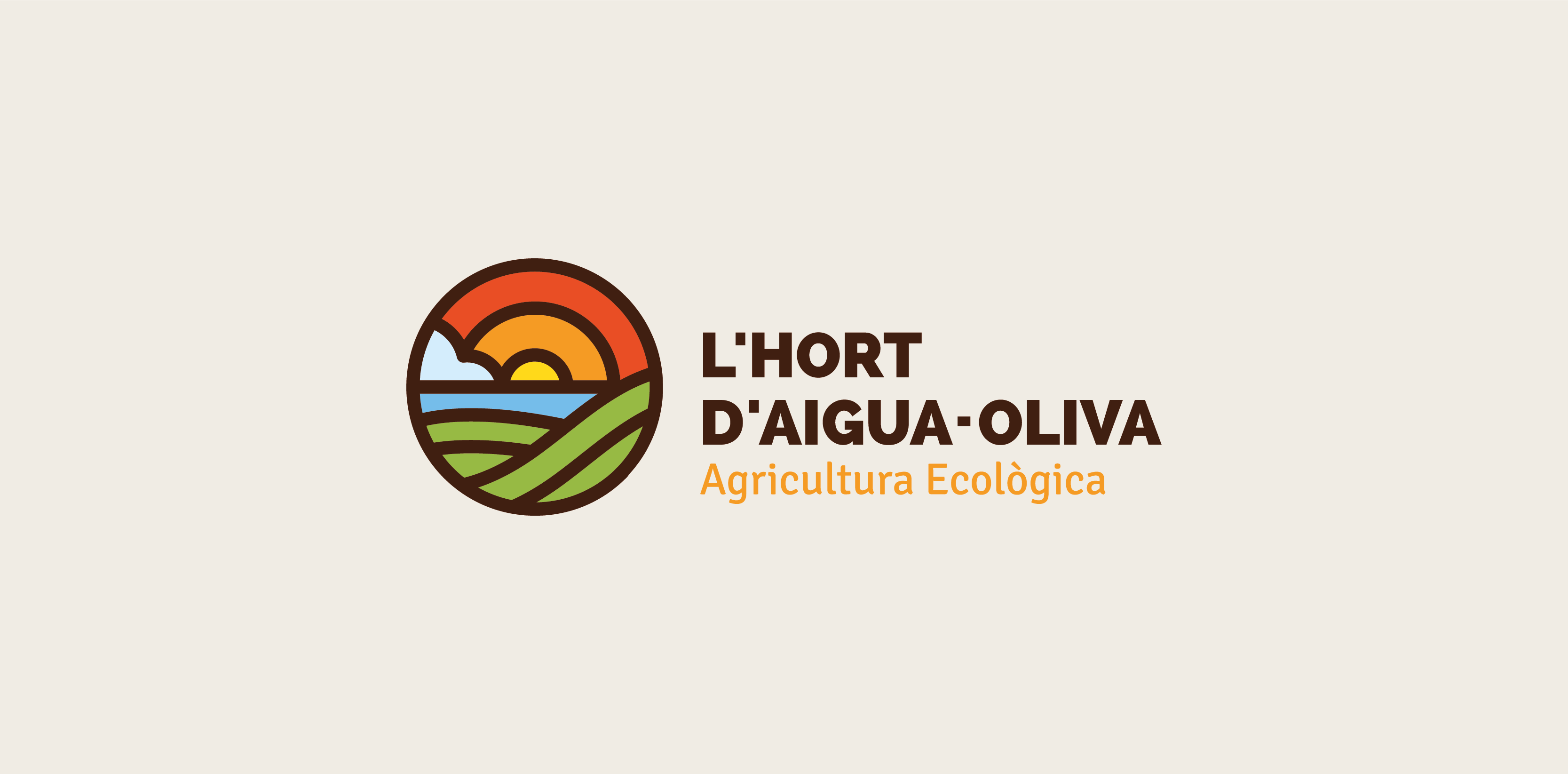 L´Hort d'Aigua-Oliva, Diseño de Logotipo para empresa dedicada a la agricultura ecológica y ubicada en la costa Mediterránea