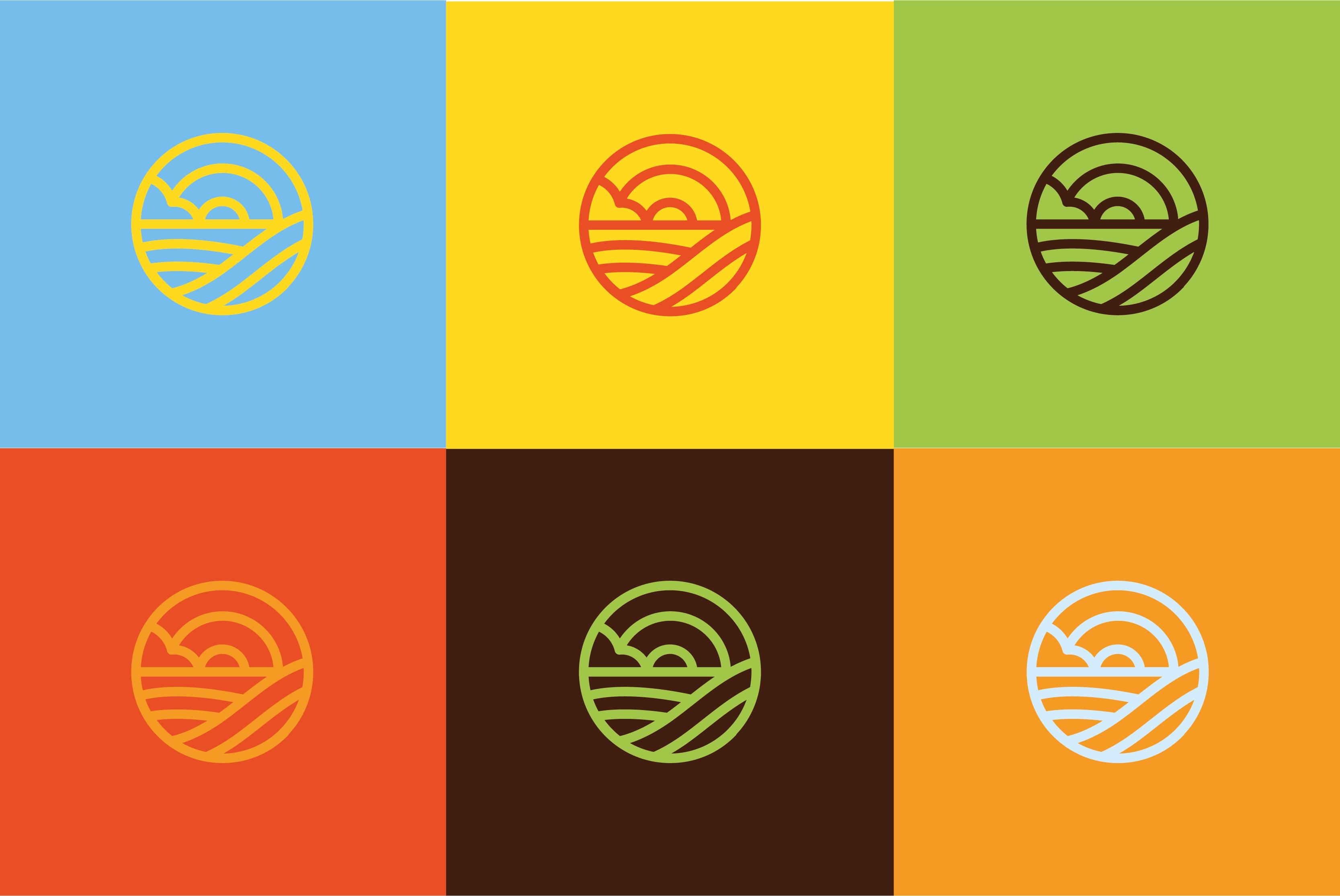 L´Hort d'Aigua-Oliva,, Usos de las versiones cromáticas corporativas del logo símbolo