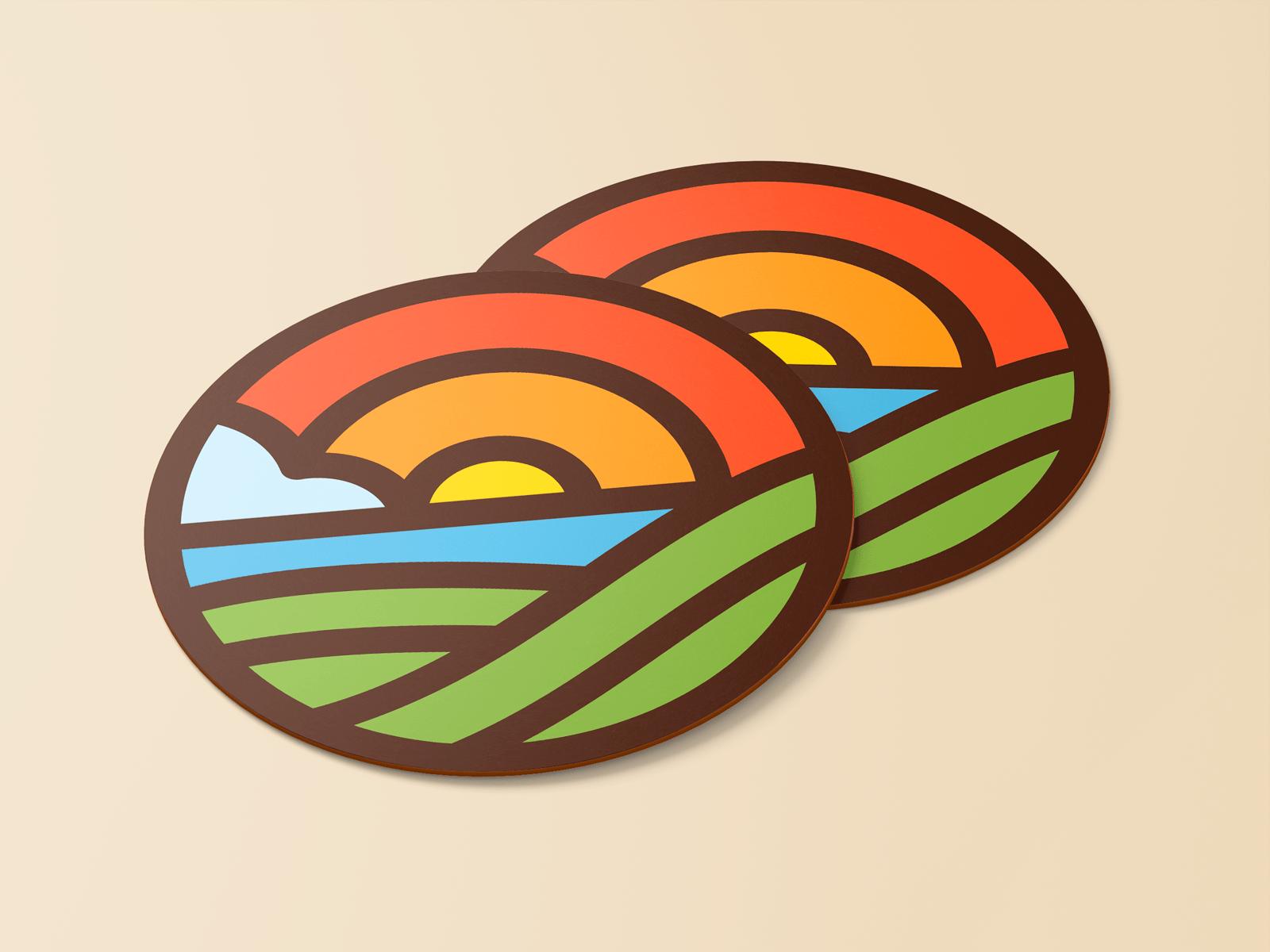 L'Hort d'Aigua-Oliva,, diseño de logo, marca, identidad corporativa,, Diseño de logotipo corporativo aplicado a steakers