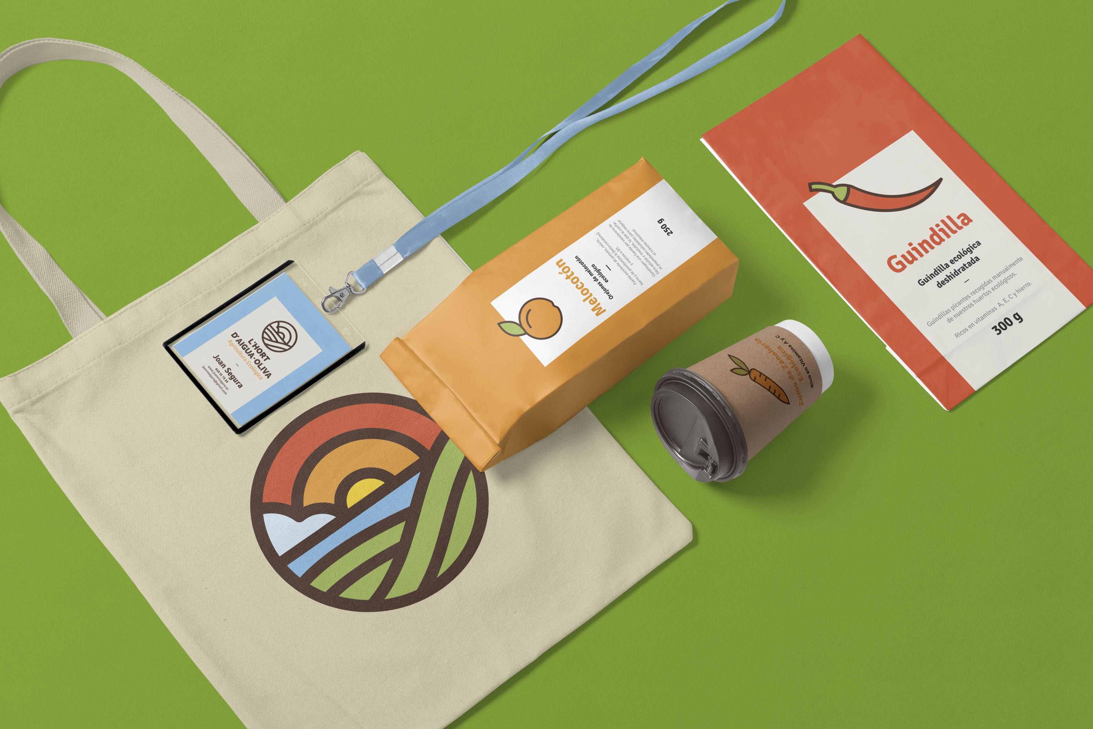 L'Hort d'Aigua-Oliva, diseño de logo, marca, identidad corporativa, logotipo, branding, packaging, etiquetas corporativas, agricultura ecológica
