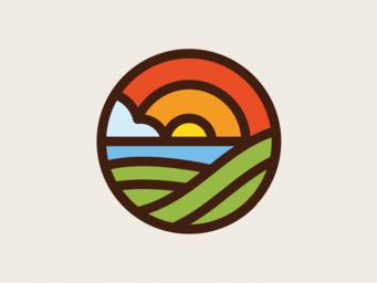 Diseño de logotipo diseñado para empresa dedicada a la agricultura ecológica
