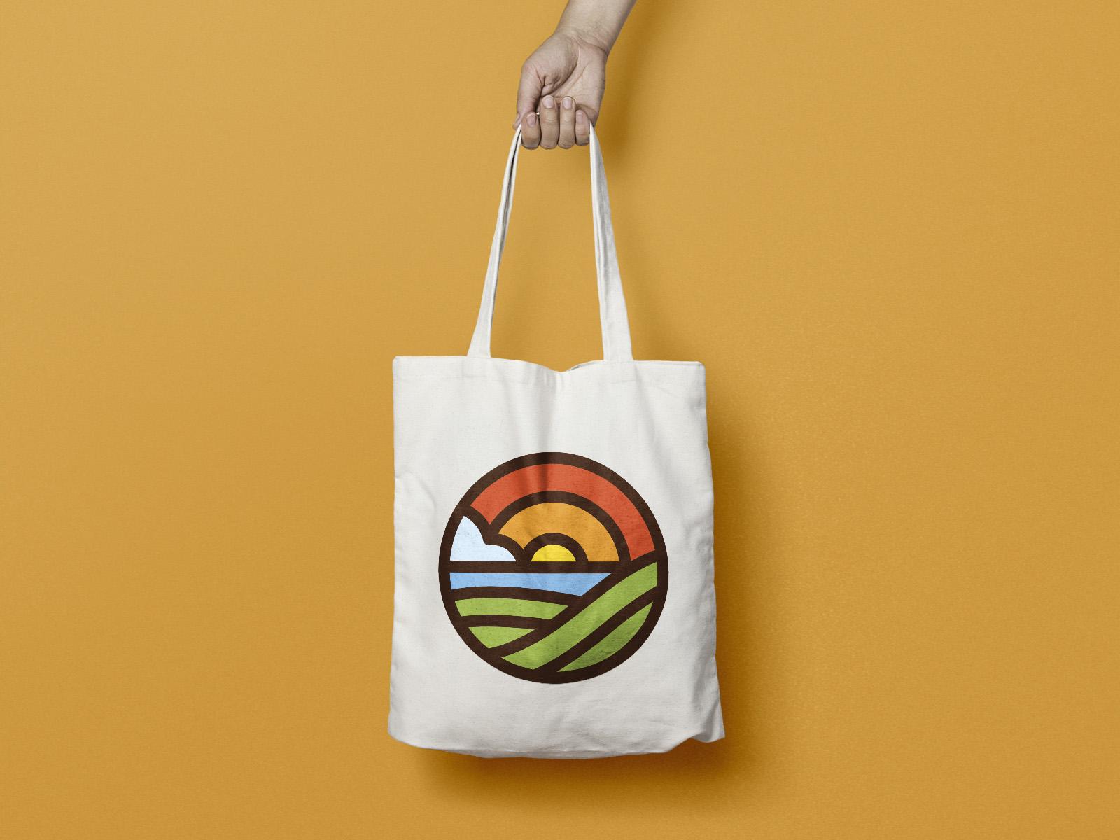 L'Hort d'Aigua-Oliva,, diseño de logo, marca, identidad corporativa, Diseño de bolsa con logotipo corporativa de algodón ecológico