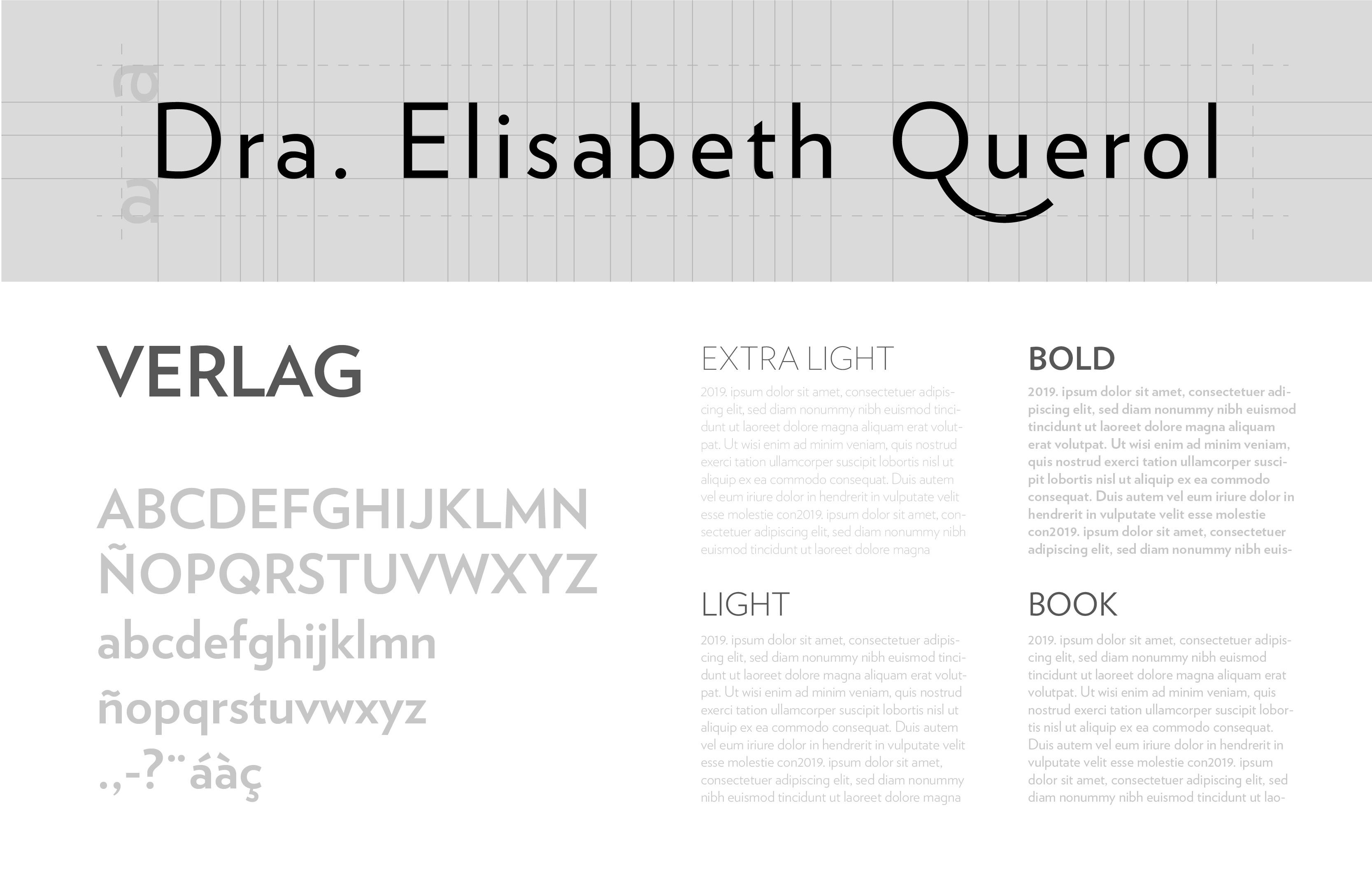 retícula logotipo y tipografía