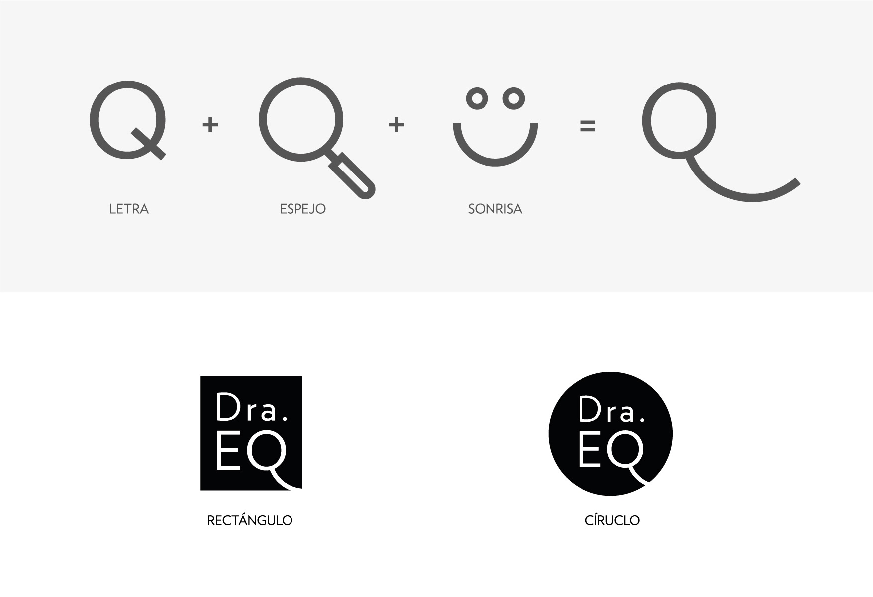 Clínica Dra. EQ Identidad Corporativa, construcción de logotipo