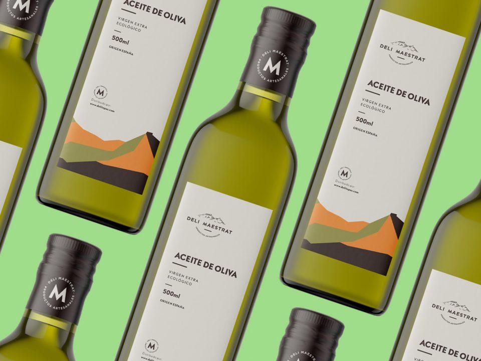diseño de etiqueta para aceite de oliva Deli Maestrat