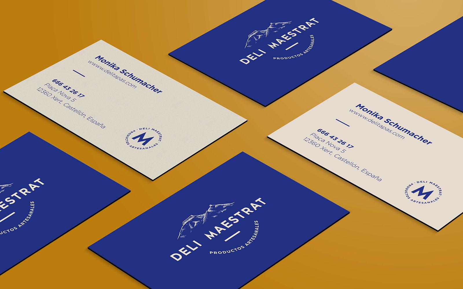 Diseño de tarjetas de visita para Deli Maestrat