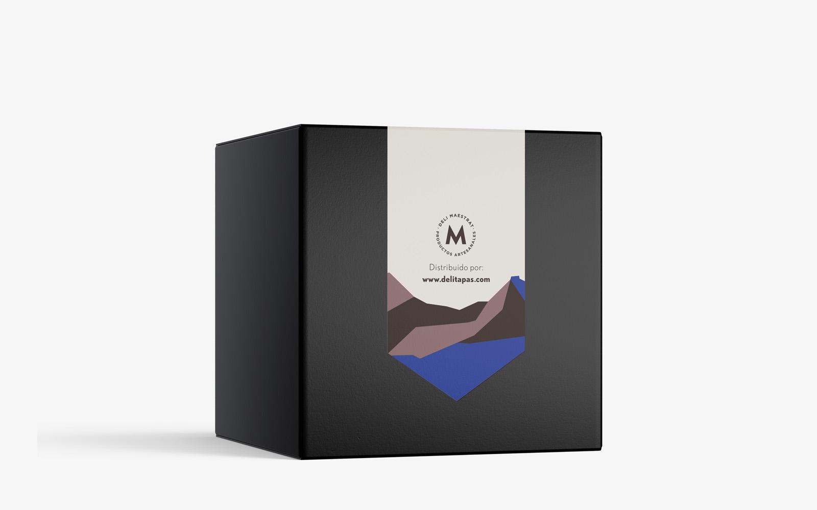 Diseño de etiqueta para trufas Deli Maestrat
