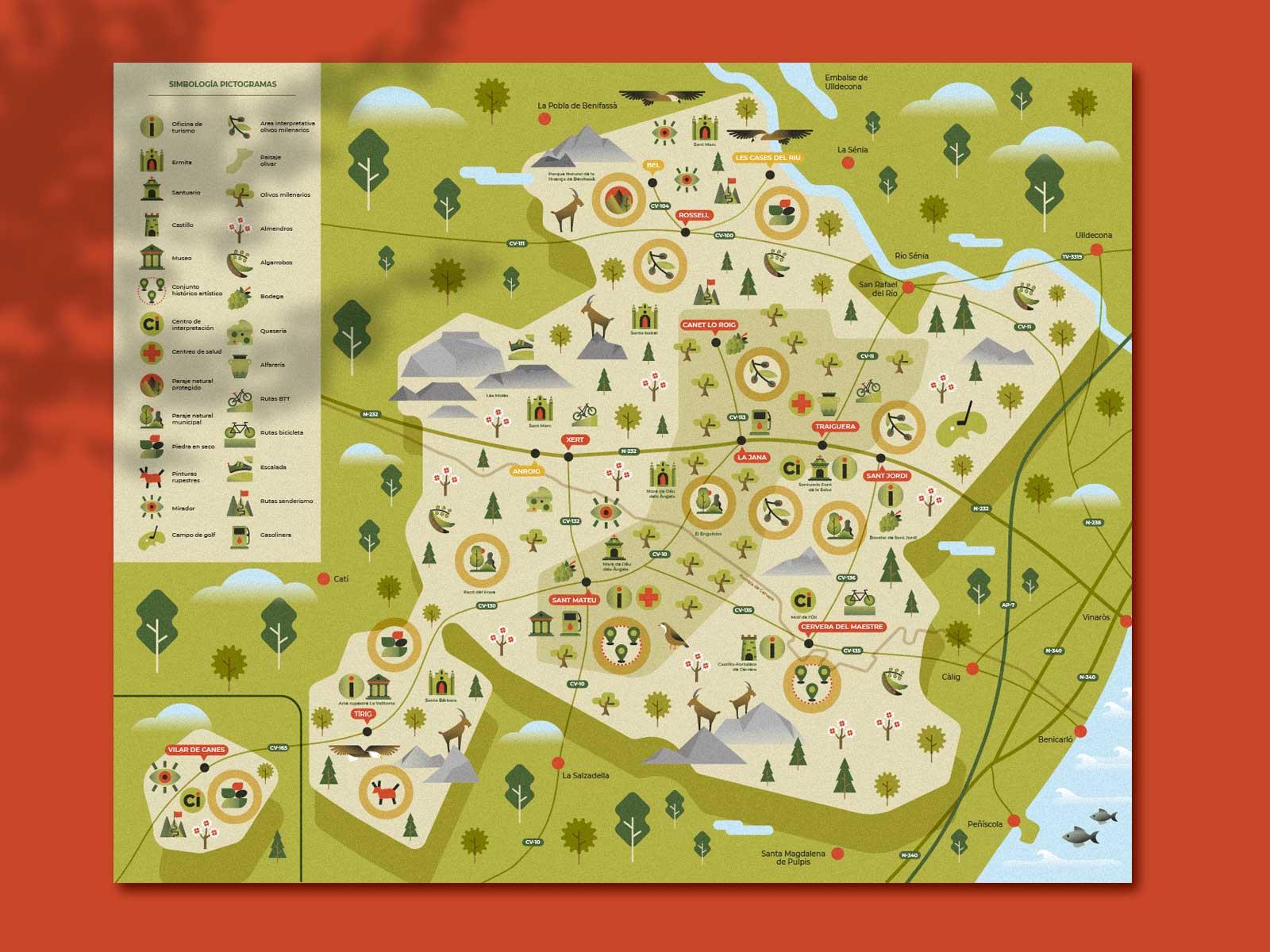 mapa terres del maestrat