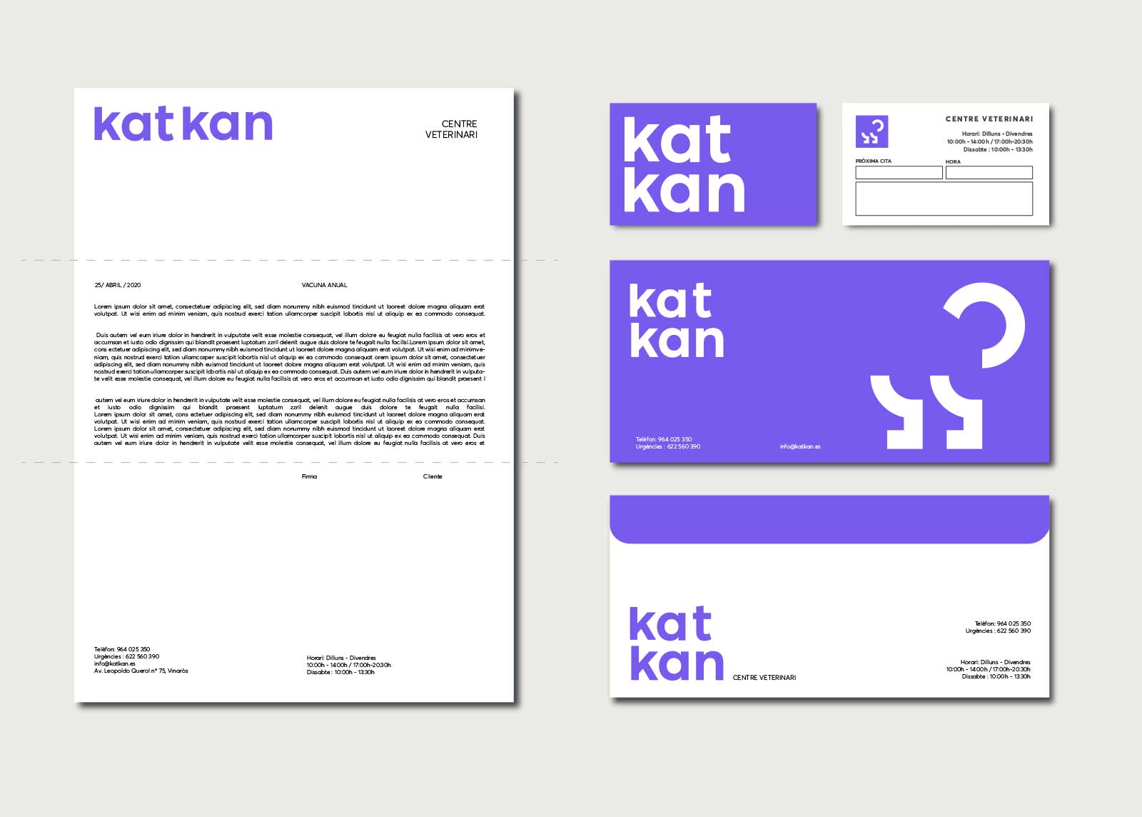 Kat Kan, Identidad corporativa, logotipo, papeleria corporativa