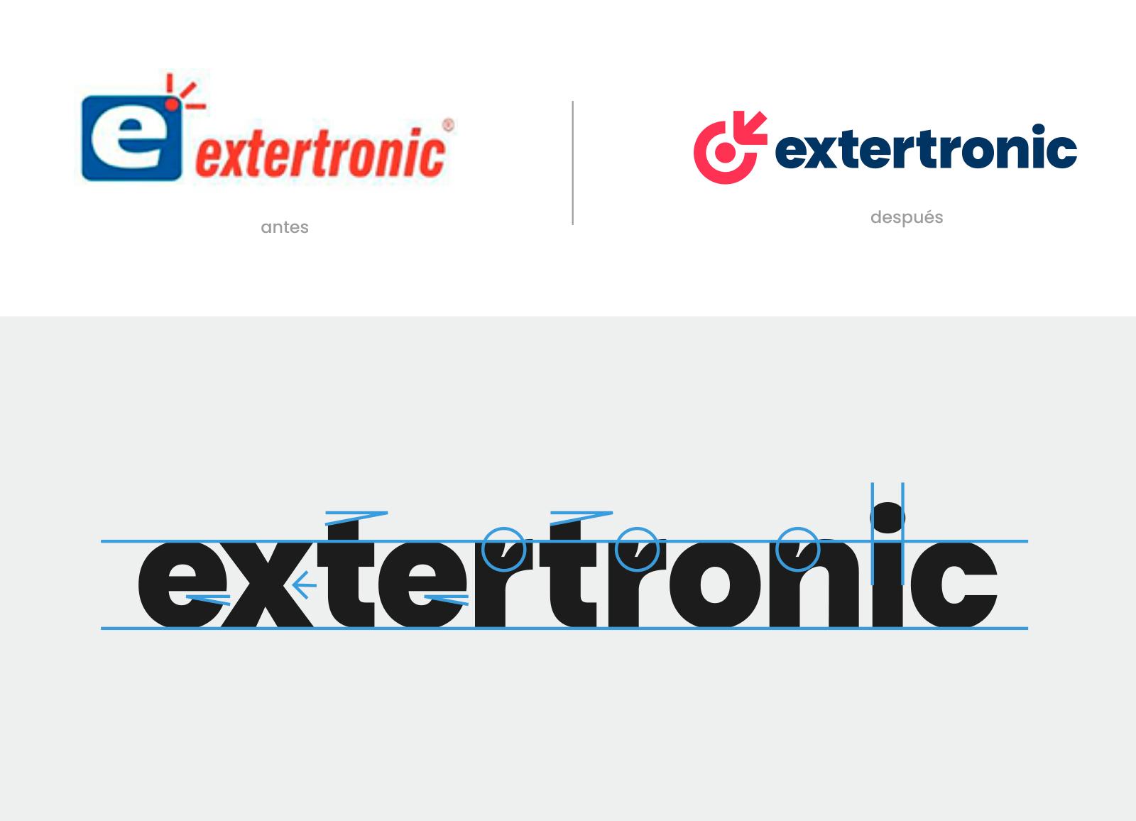 Extertronic, Identidad visual, logotipo