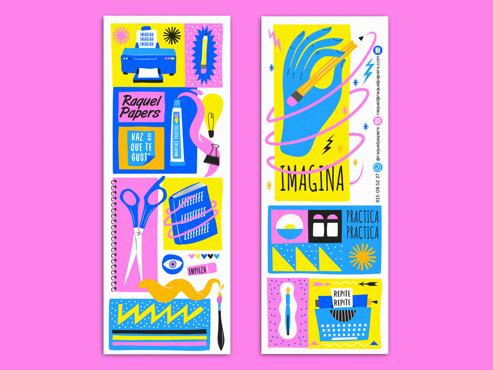 Raquel Papers - Puntos de libro ilustrados