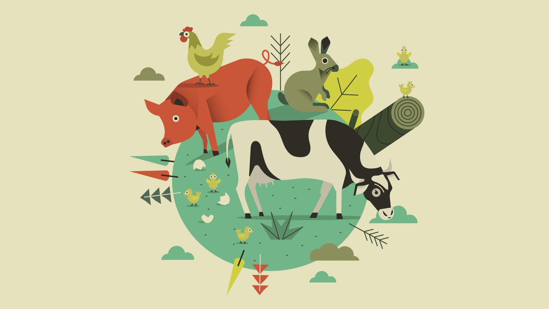 video de animación animales